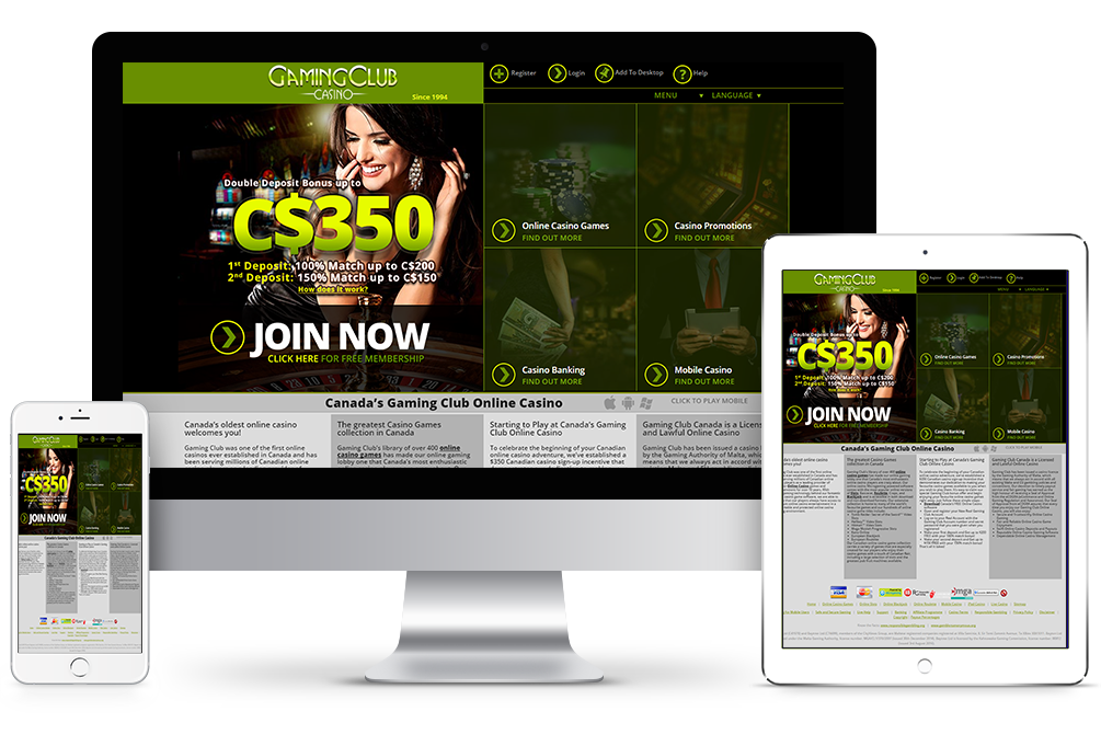 Gaming Club Online Casino - Get 350 FREE & Play 500 Casino Games Now.